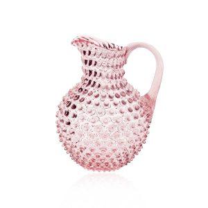 crystal-hobnail-jug-pink