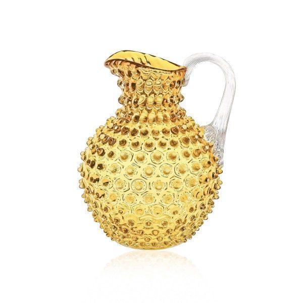 klimchi-hobnail-jug-amber-underlay