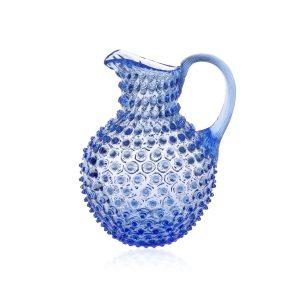 Crystal-hobnail-jug-light-blue